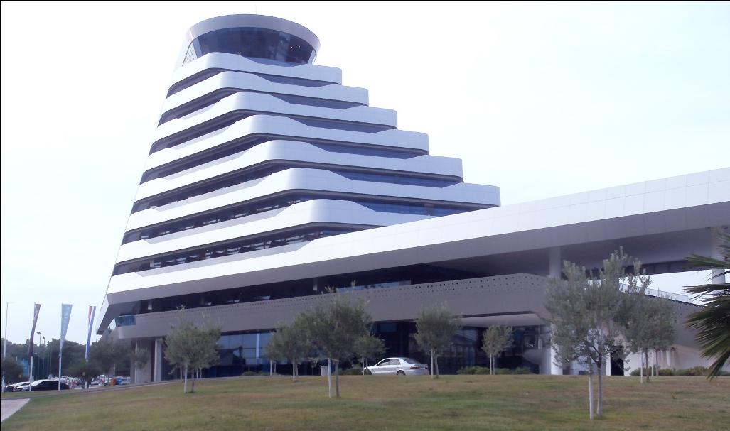 Vodice impozáns szállodája a kilencemeletes Olympiasky szálloda